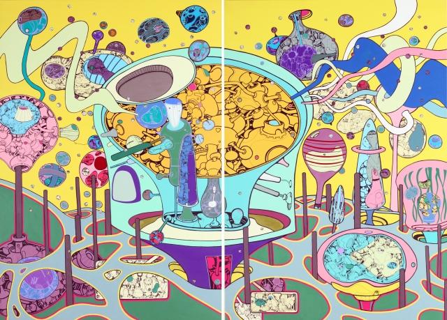 許唐瑋-未知世界的距離 162x224x5cm 2010 丙烯 畫布